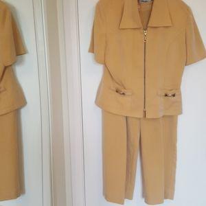 Mustard striped Michael Philips summer suit set